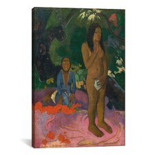 'Words of The Devil (Parau na te Varua ino)' by Paul Gauguin Painting Print on Wrapped Canvas