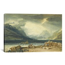'The Lake of Thun, Switzerland' by Joseph William Turner Painting Print on Wrapped Canvas