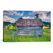 'Small Barn' by Bob Rouse Painting Print on Canvas