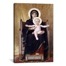 'The Seated Madonna (Madone Assise)' by William-Adolphe Bouguereau Painting Print on Wrapped Canvas