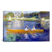 'The Seine at Asnieres' by Pierre-Auguste Renoir Painting Print on Canvas