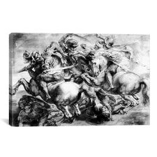 'The Battle of Anghiari' by Peter Paul Rubens Painting Print on Canvas