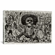 'Skeletons - Calavera from Oaxaca' by José Guadalupe Posada Painting Print on Canvas