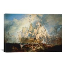 'The Battle of Trafalgar 1822-1824' by Joseph William Turner Painting Print on Wrapped Canvas