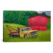'Truck in Weeds' by Bob Rouse Painting Print on Canvas