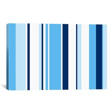 True Baby Blue Striped Graphic Art on Wrapped Canvas