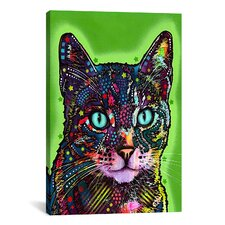 'Watchful Cat' by Dean Russo Graphic Art on Wrapped Canvas