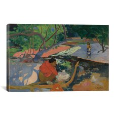 'Te Poipoi (Le Matin) 1892' by Paul Gauguin Painting Print on Wrapped Canvas