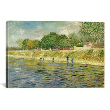 'The Banks of the Seine' by Vincent Van Gogh Painting Print on Wrapped Canvas