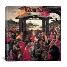 """""""The Adoration of The Magi"""" Canvas Wall Art by Domenico Ghirlanaio"""