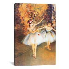 'Two Dancers on Stage (Alla Barra)' by Edgar Degas Painting Print on Wrapped Canvas