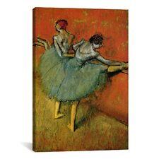 'Tanzerinnen an der Stange 1888' by Edgar Degas Painting Print on Wrapped Canvas
