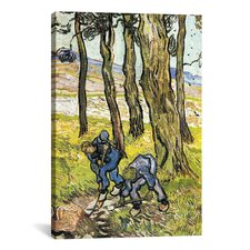 """Two Men Digging Out a Tree Stump' by Vincent Van Gogh Painting Print on Canvas"