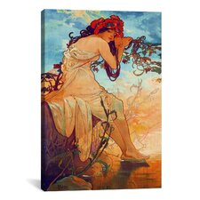 'Summer' by Alphonse Mucha Painting Print on Wrapped Canvas