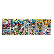 Marvel Comics Captain America Cover and Panel Panoramic Graphic Art on Canvas