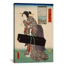 'Takanawa Japanese' by Kunisada (Toyokuni) Painting Print on Canvas