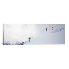 Panoramic Ski Lifts in a Ski Resort, Arlberg, St. Anton, Austria Photographic Print on Wrapped Canvas
