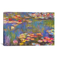 """Water Lilies, 1916"" by Claude Monet Painting Print on Canvas"