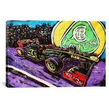 Lotus Race Car Canvas Print Wall Art