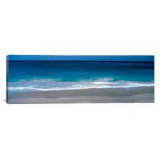 Panoramic Waters Edge Barbados Caribbean Photographic Prints on Canvas
