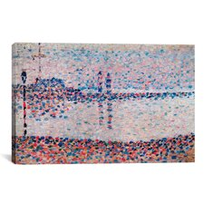 'Study For The Channel At Gravelines' by Georges Seurat Painting Print on Canvas