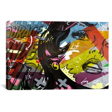 Left of Yes by Dan Monteavaro Graphic Art on Wrapped Canvas