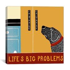Life's Big Problems Banner Canvas Print Wall Art