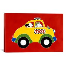 """""""Taxi!"""" by Shelly Rasche Graphic Art on Wrapped Canvas"""
