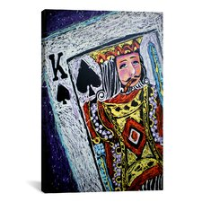 King Spades 001 Canvas Print Wall Art