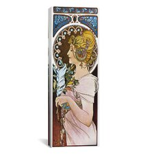 The Pen, 1899 by Alphonse Mucha Graphic Art on Wrapped Canvas