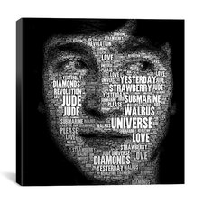 The Fab Four Songs - John by Maximilian San Graphic Art on Wrapped Canvas