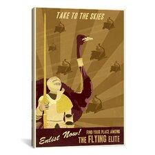 The Flying Elite Canvas Print Wall Art