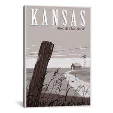 Wizard Oz Kansas Duo Canvas Print Wall Art