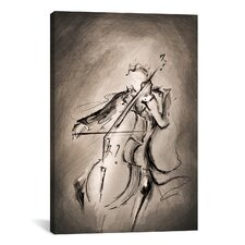 'The Cellist' by Marc Allante Graphic Art on Canvas
