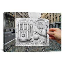 'Pencil Vs Camera 35 - This is Not Gravity' by Ben Heine Photographic Print on Canvas