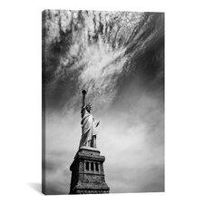New York City Miss Liberty Canvas Wall Art by Nina Papiorek