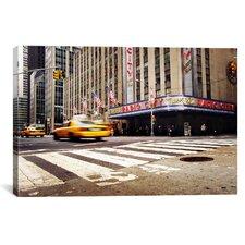 New York City Radio City Canvas Wall Art by Nina Papiorek