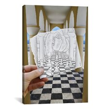 'Pencil with Camera 37 Checkmate' by Ben Heine Photographic Print on Canvas