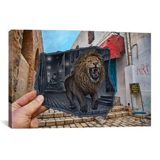 'Pencil with Camera 63 Mighty Lion' by Ben Heine Photographic Print on Canvas