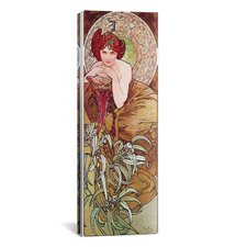 Emerald, 1900 by Alphonse Mucha Graphic Art on Wrapped Canvas
