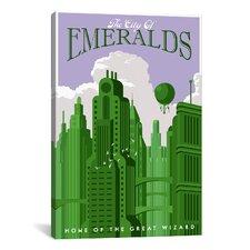 Emerald City Travel Canvas Print Wall Art