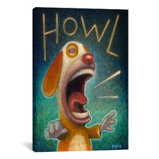'Howl' by Daniel Peacock Painting Print on Wrapped Canvas