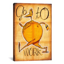'Go to Work' by Daniel Peacock Painting Print on Wrapped Canvas