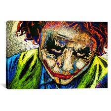 Joker Dripped 001 Canvas Print Wall Art