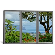 Hawaii Window View Canvas Print Wall Art