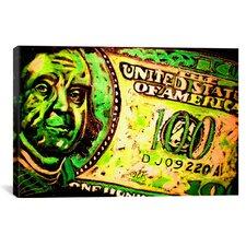 Rock Demarco 100 Bill 003 Canvas Print Wall Art