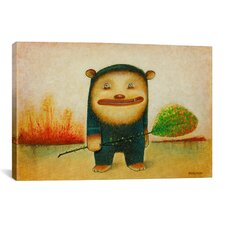 'Blue Bear' by Daniel Peacock Painting Print on Wrapped Canvas