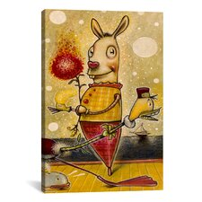 'Sparkle Bunny' by Daniel Peacock Painting Print on Wrapped Canvas