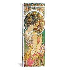 Alphonse Mucha Polyanthus, 1899 Graphic Art on Wrapped Canvas