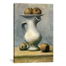 Picasso Still Life with A Pitcher And Apples by Pablo Picasso Painting Print on Wrapped Canvas